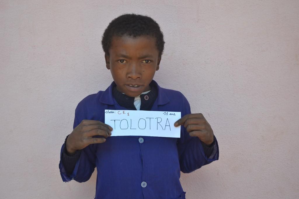 Tolotra François, CE2, né en 2004, parrainé par Jasmine. Année scolaire 2015-2016